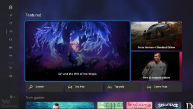 صورة نظرة أولية مسربة لشكل متجر Xbox للجيل القادم