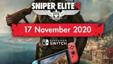 صورة لعبة Sniper Elite 4 قادمة يوم 17 نوفمبر هذا العام على جهاز Nintendo Switch